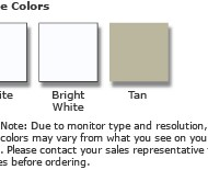 Casement frame colors