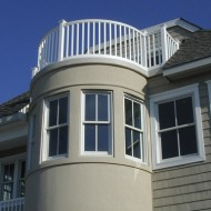 Curved rail on balcony