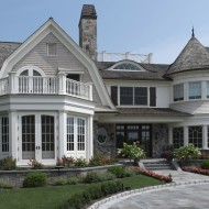 Exterior PVC trim on mansion
