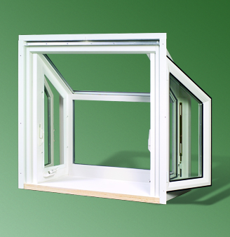 Series 2051 dp50 rated stucco replacement garden window for Garden window replacement