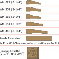 Wood trim profiles